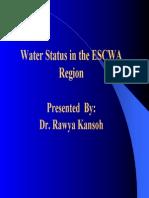 Water Statusin the ESCWA Region