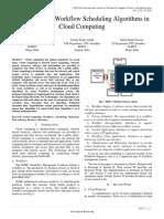 Comparison of Workflow Scheduling Algorithms in Cloud Computing