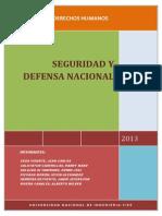 SEGURIDAD Y DEFENSA NACIONAL EN EL PERÚ