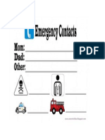 Emergency Contacts Printable