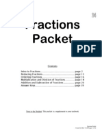 All about Fractions Packet