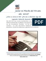 Información Planilla del IVA 2013 - ContaNIC