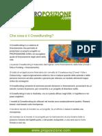 Che cosa è il Crowdfunding