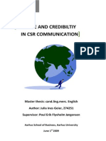 Culture and Credibility in CSR Communication