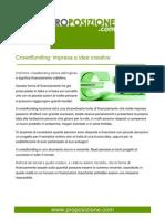 Crowdfunding Impresa E Idee Creative