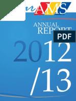AMS Annual Report, 2012-2013