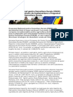 ROMANIA -Programul National Pentru Dezvoltare Rurala