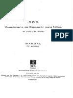 65828524 CDS Cuestionario de Depresion Para Ninos