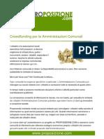 Crowdfunding per le amministrazioni comunali
