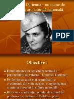 Domnica Darienco – un nume de neuitat în111111111
