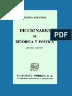 Beristáin - Diccionario de Retórica y Poética