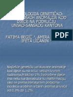Epidemology of Cardiogenetic Anomalies in Children in the Region of Una-sana Canton