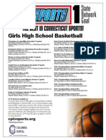 Girls Basketball Flyer