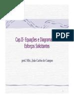 Cap. II- Equações e Diagramas dos Esforços Solicitantes V2