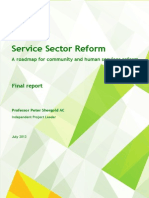 Service Sector Reform:A roadmap for community and human services reform