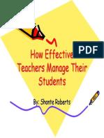 Effective Teachers
