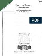 Gadamer Praise of Theory