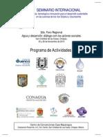 Programa 2a Sesión del Seminario San Cristóbal Nov. 2013