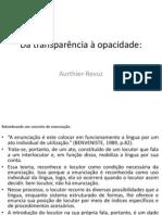 Authier-Revuz - Da transparência à opacidade