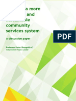 Towards a more effective and sustainable community services system