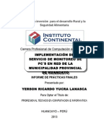 Plantilla de plan de Practicas profesionales Instutito Continental