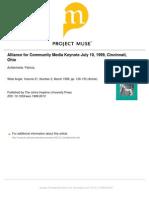 Alliance Fo Community Media-Aufderheide