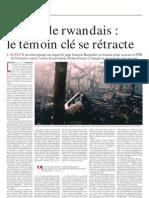 Génocide Rwandais, le témoin clé se rétracte - Le Soir - 25 aout 2009