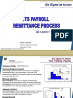 Payroll Remittance Six Sigma Case Study