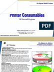 Printer Consumable Process Six Sigma Case Study