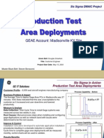 Gage Area Deployment Six Sigma Case Study