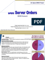 Dell Server Ordering Six Sigma Case Study