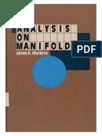 Analysis on Manifolds - Munkres