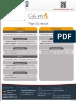 Flight Schedule Galaven