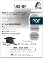 2014 MNRB Scholarship Advert