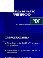 AMENAZA DE PARTO PRETÉRMINO.ppt