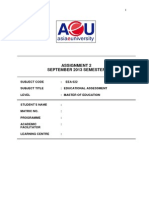 EEA622.Assign2.40 .Educ.assessment.sept.2013 (1)