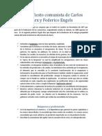 El Manifiesto Comunista de Carlos Marx y Federico Engels