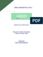 REFORMA ENERGÉTICA 2013