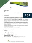 Carta a Corona Practicante Mauricio