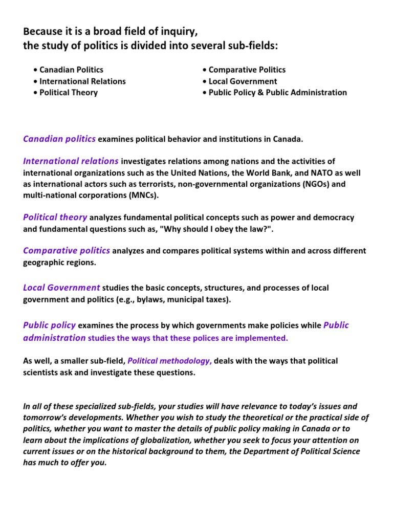 What Will I Study PoliSci Western | International Relations