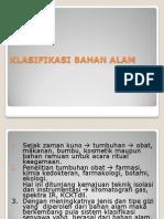 2. Klasifikasi Bahan Alam