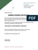 Training Certificate 2