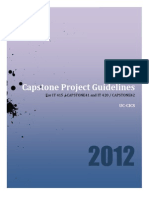 Capstone Project Guidelines 2012
