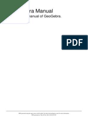 Geogebra Official Manual   Matrix (Mathematics)   Geometry