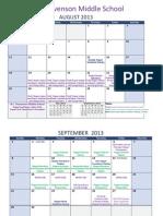 stevenson ms magnet calendar 2013-2014