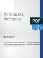 Nursing as a Prof, History