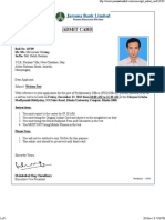 Jamuna Bank Admit Card