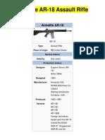 Armalite AR-18 Assault Rifle