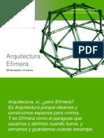 CFGS ARQUITECTURA EFIMERA