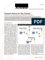 Pressure Control for Vacuum Systems